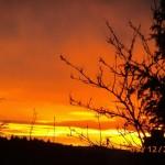 Sonnenuntergang im Hintertaunus